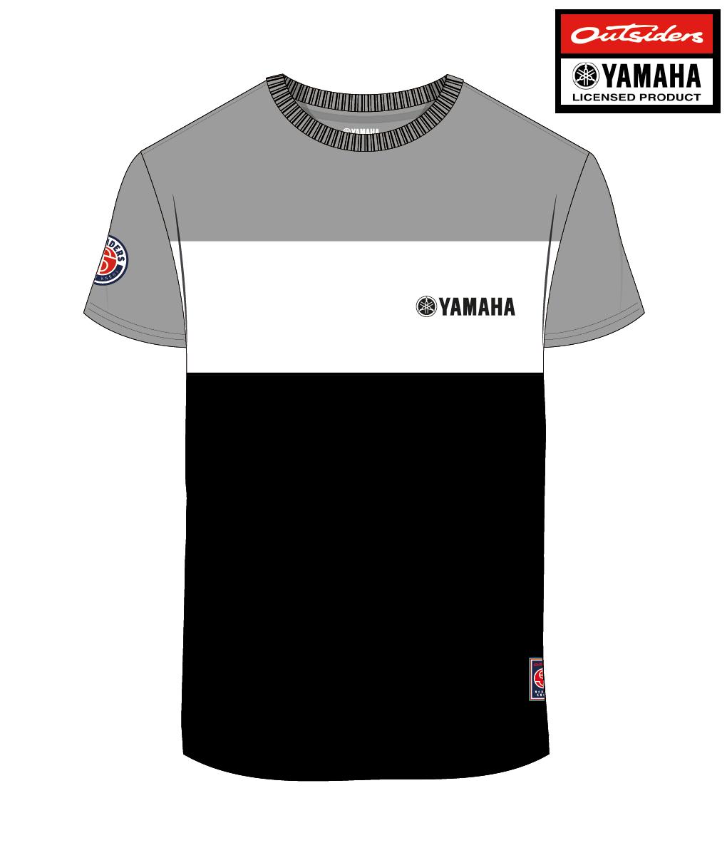 Veste yamaha noir et blanche
